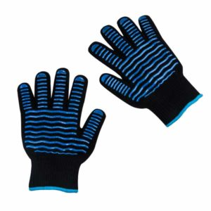 Kitchen Kult Heat & Cut Resistant Non-Slip Silicone Grilling Gloves